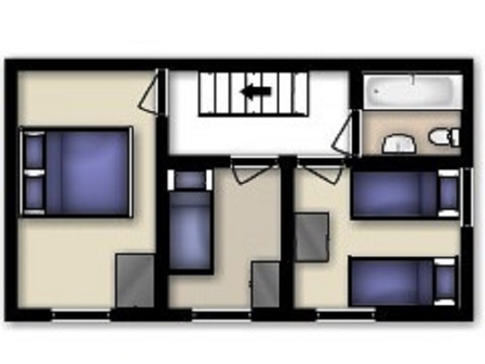 Gull Cottage Ground Floor Floorplan at Robin Hill Farm Cottages
