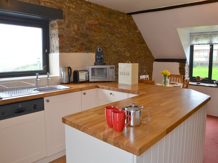 Swallow Cottage Open Plan Kitchen at Robin Hill Farm Cottages