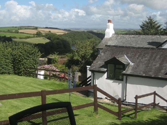 Looking towards Exmoor from Puffin Cottage Garden at Robin Hill Farm Cottages