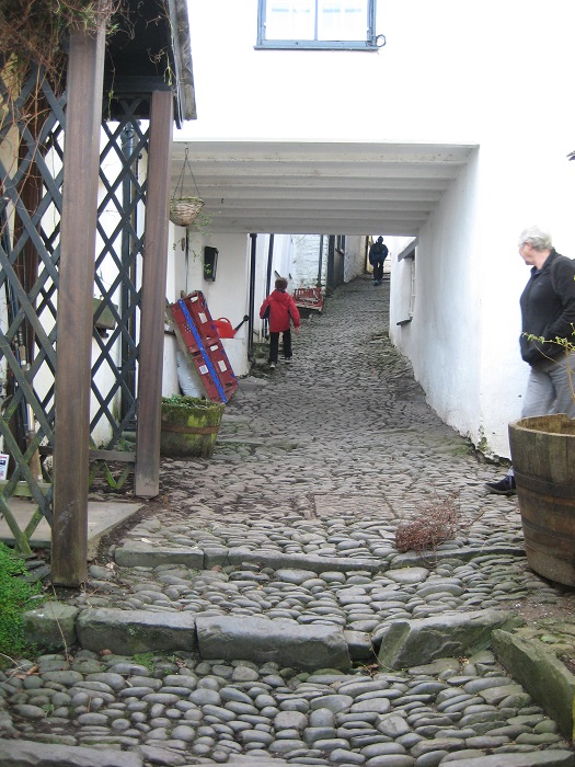 Exploring the cobbled streets of Clovelly North Devon